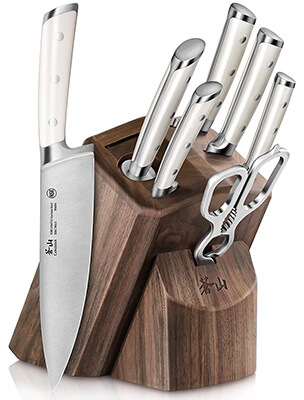 Cangshan S1 Series 1022575 German Steel Forged 8-Piece Knife Block Set