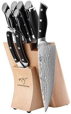 NANFANG BROTHERS Kitchen Damascus Knife Set